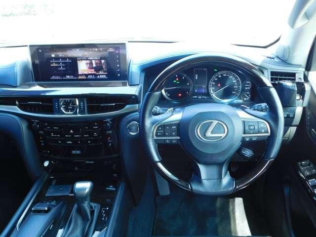 LX570 4WD アラウンドビューモニタ サンルーフ ナビTV DVD LEDヘッドライト シートヒーター クルーズコントロール パワーシート 純正21インチアルミ ETC(6枚目)