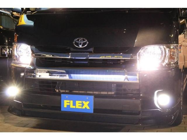 FLEXオリジナルアルティメットフォグランプ!ポジション・ナンバー灯・室内灯もLEDへ変更しております♪夜はとても明るいですよ♪