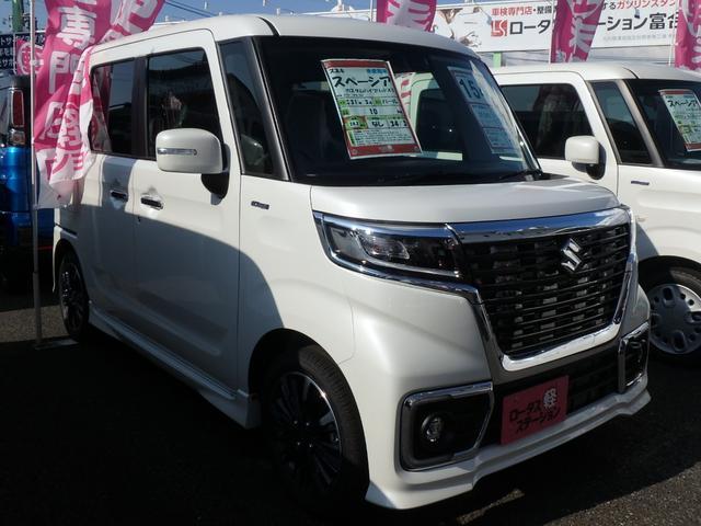 「スズキ」「スペーシアカスタム」「コンパクトカー」「熊本県」の中古車3