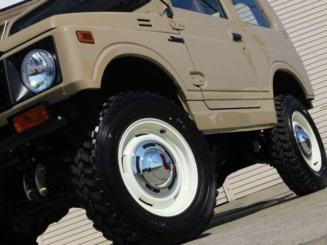 タイヤホイール・リーフスプリング・シャックル・アブソーバー・ブッシュは新品にてお取り付けいたしております。
