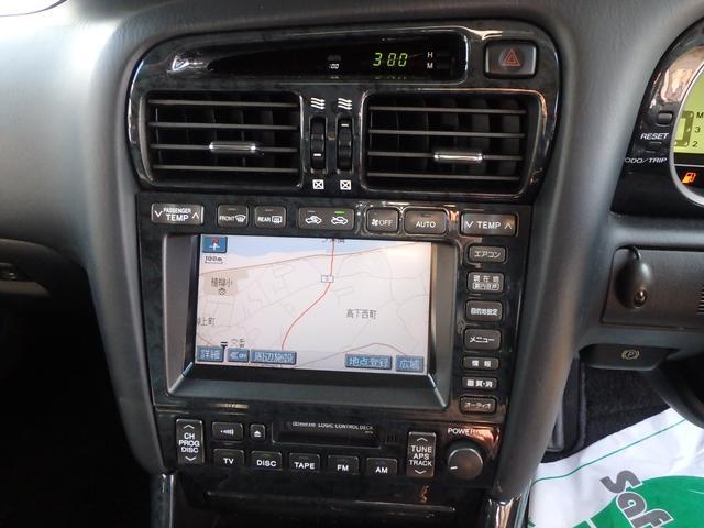 トヨタ アリスト S300 社外アルミ エアロ 社外グリル ナビ