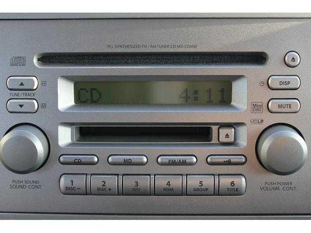 CD/MDプレイヤー付き!ナビ取り付け、各種オーディオ取り付けも当店にて行っておりますのでお気軽にご相談下さい♪