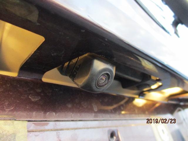 バックカメラで車庫入れも安心!