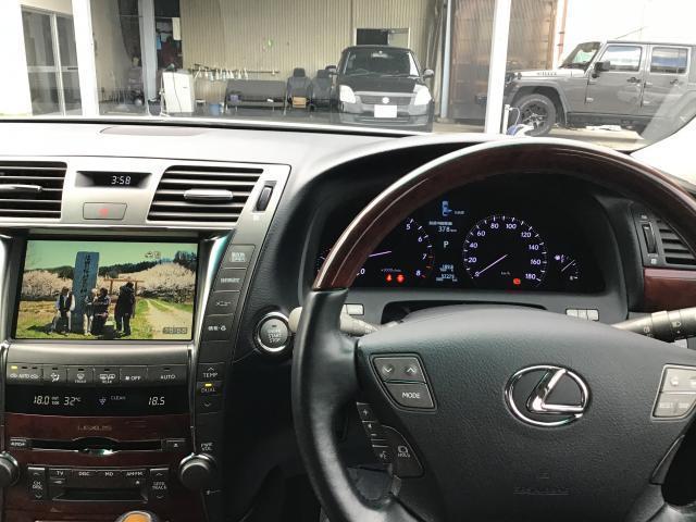 LS460 純正HDDナビ 地デジ サンルーフ 黒革シート ETC HIDヘッドライト クレンツェ20インチアルミ レクサスプレミアムサウンドシステム シートメモリー ブレーキホールド エアシート シートヒーター(16枚目)