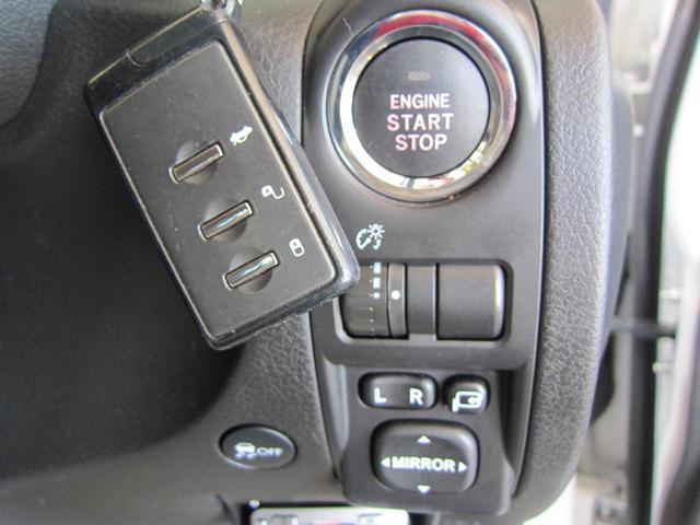アクセスキー&プッシュスタート付。鍵をカバンやポケットに入れたままで、鍵の開閉とエンジン始動が出来ます。