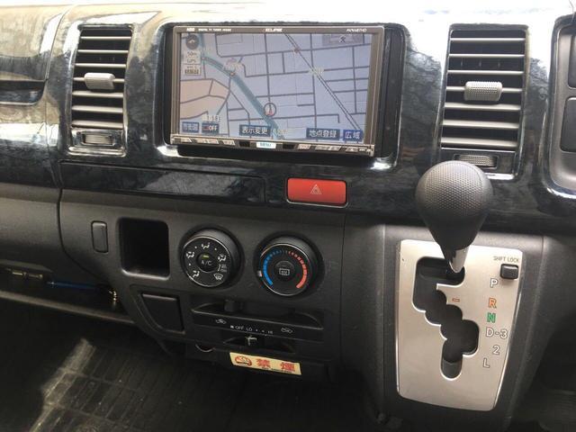 トヨタ ハイエースバン ロングDX 社外20インチAW HDDナビ バケットシート