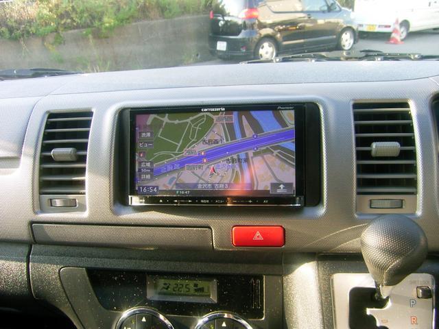 トヨタ レジアスエースバン ロングスーパーGL4WD 社外SDナビTV CD DVD再生