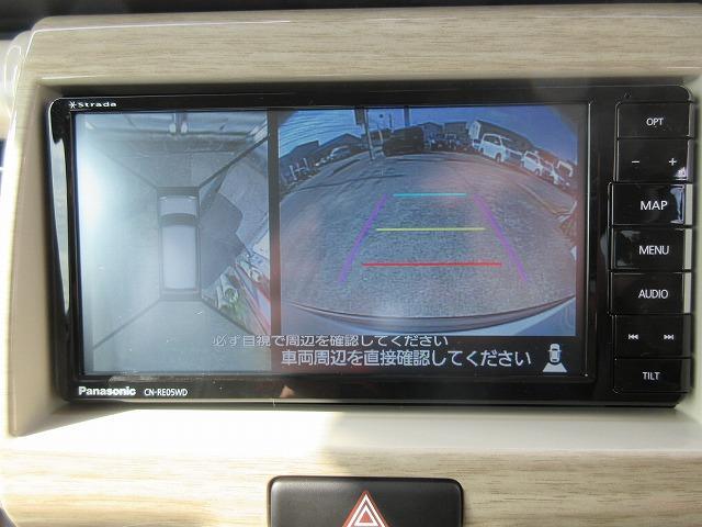 全方位カメラはこんな感じに映ります!!細い道も安心です!!