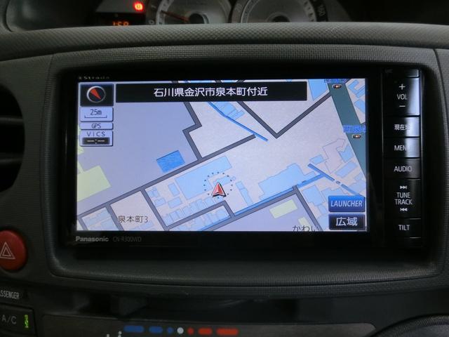 社外品のSDメモリーナビを装備しています。行き先を入力したら目的地まで音声案内してくれます。