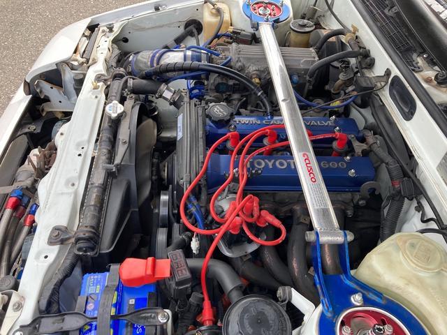GT APEX 最終後期型 92後期E/G 社外コンピューター ロールバー LSD ブリッツ全調整式車高調 トラストオイルクーラー 社外カム ワタナベ15インチホイール 強化クラッチ 全塗装済 RS-Rマフラー(27枚目)