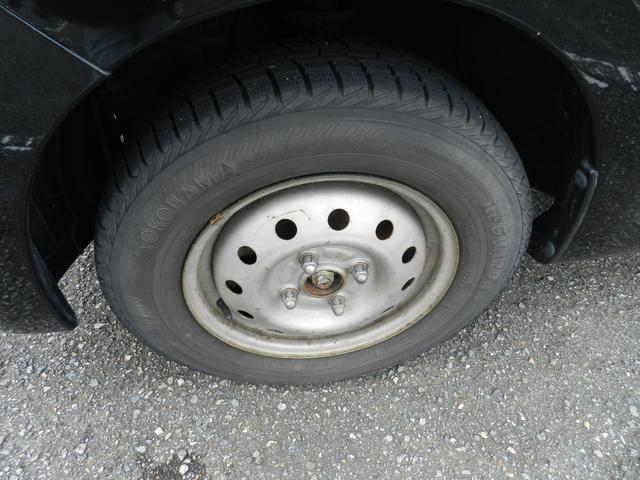 タイヤについては、ご相談ください。現在は鉄ホイールにスタッドレスタイヤをはいています。