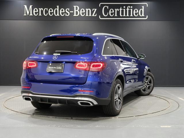 GLC220d 4マチック AMGライン パノラミックスライディングルーフ ワンオーナー車 新車保証2023年7月まで(3枚目)
