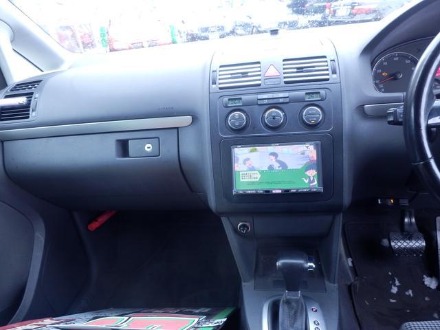 フォルクスワーゲン VW ゴルフトゥーラン GLi社外HDDナビDTV DVD V ETC