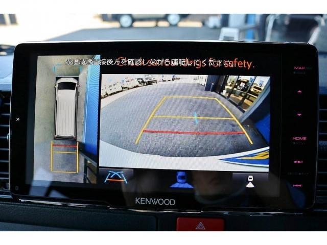 パノラミックビューモニター連動加工済みなので駐車に自信のない方も安心して駐車可能です!