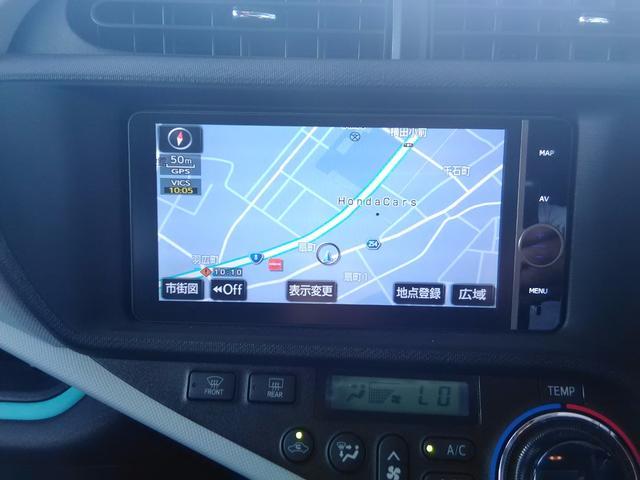 トヨタ アクア S スマートエントリーP HDDナビ TV Bカメラ LED