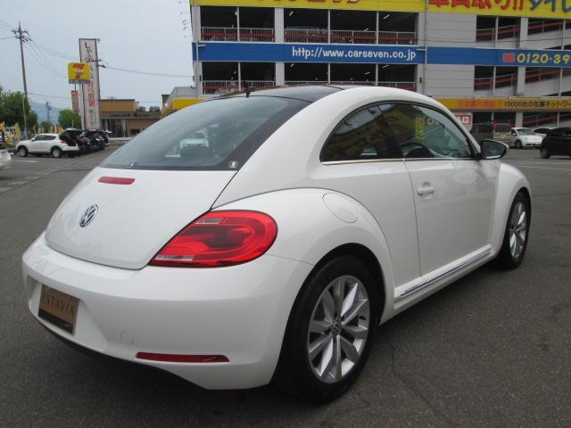 フォルクスワーゲン VW ザ・ビートル デザインレザーパッケージ 社外ナビ TV HIDヘッドライト