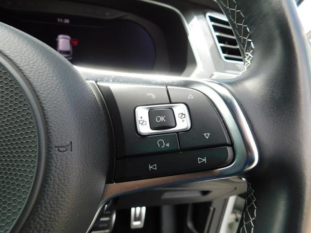 TSI Rライン ナビTV ダイナミックPKG LED 全方位カメラ 衝突軽減ブレーキ レーンキープアシスト ドラレコ 追従クルコン シートヒーター デジタルメーター 19AW ETC CD DVD USB SD BT(30枚目)