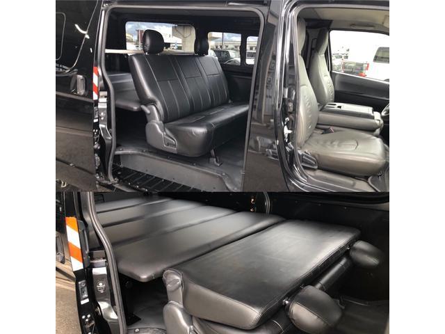 ロングDX GLパッケージ 車中泊用ベットキット新品 スタッドレスタイヤ中古付き ディーゼルターボ4WD スーパーGL純正リアシート TRDアルミ&BFグットリッチ スライドドア換気用小窓付 Bモニター内蔵ルームミラ Fスポイラ(3枚目)