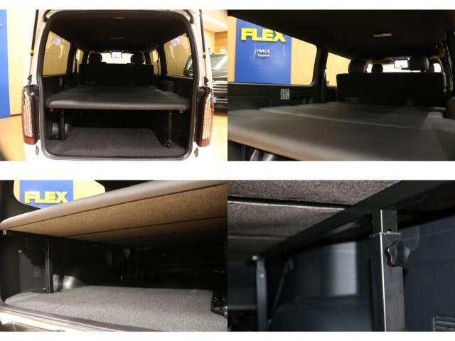 【ラゲッジスペース】弊社オリジナルベッドキット施工済☆くろぎつつも充実した収納スペースを確保☆
