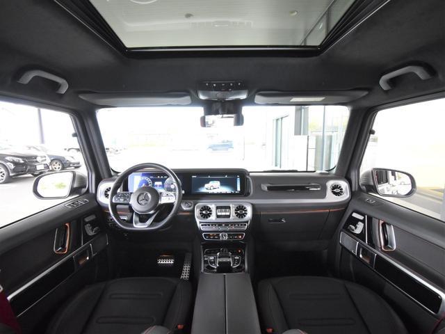 G550 レーダーセーフティパッケージ AMGライン 黒革 ガラススライディングルーフ Burmester TV ナビ ETC 20インチアルミホイール 正規ディーラー認定中古車 2年保証(17枚目)