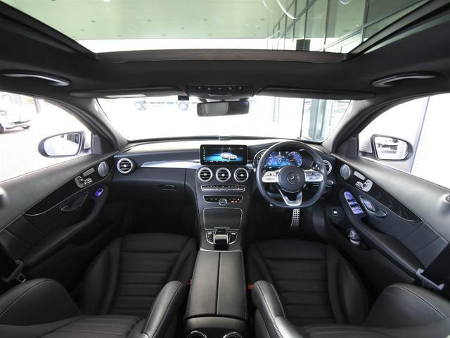 C220d ワゴンアバンギャルド AMGライン レーダーセーフティパッケージ レザーエクスクルーシブパッケージ 黒革 Burmester パノラミックスライディングルーフ TV ナビ 18インチアルミホイール 正規ディーラー認定中古車 2年保証(19枚目)