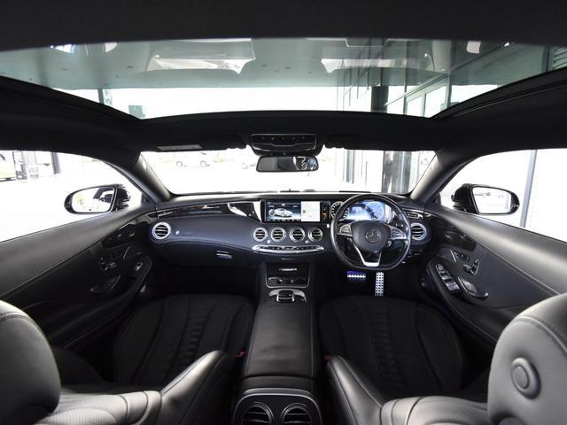 S550 クーペ AMGライン レーダーセーフティパッケージ AMGスタイリングパッケージ スワロフスキークリスタルパッケージ パノラミックルーフ 黒革 全周囲カメラ Burmester 20AW 正規ディーラー認定中古車 2年保証(13枚目)