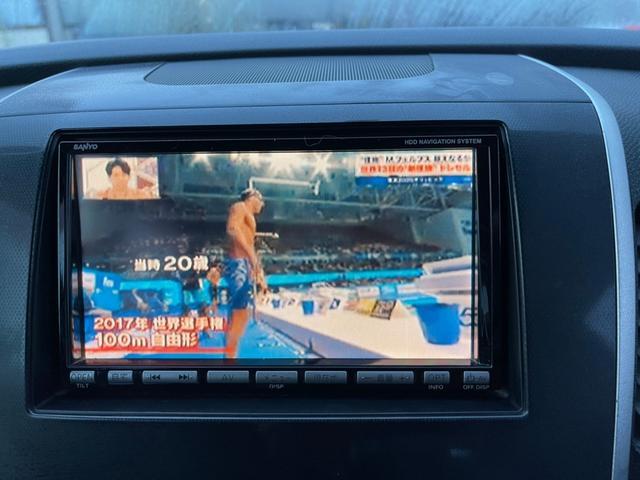 X TVナビ  2スマートキー DVD再生可 ディスチャージライト CDデッキ エアコン  純正アーミーホイール(7枚目)