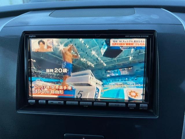 X TVナビ  2スマートキー DVD再生可 ディスチャージライト CDデッキ エアコン  純正アーミーホイール(8枚目)