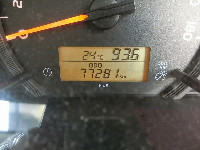 走行距離は77281KM