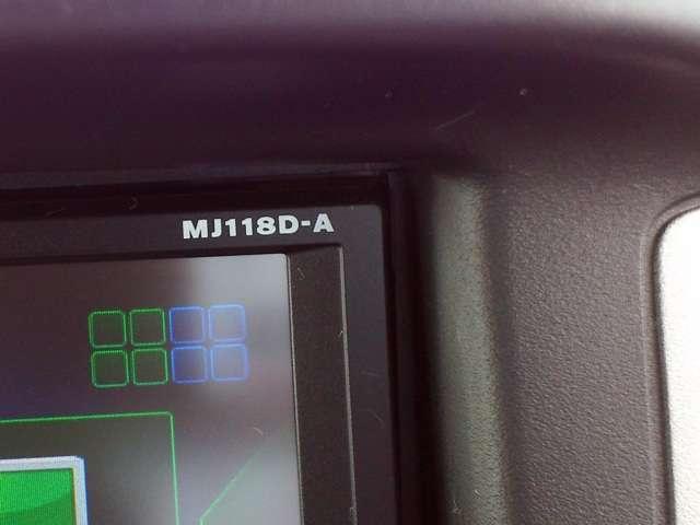 日産純正ナビゲーションMJ118D-Wが付いています。