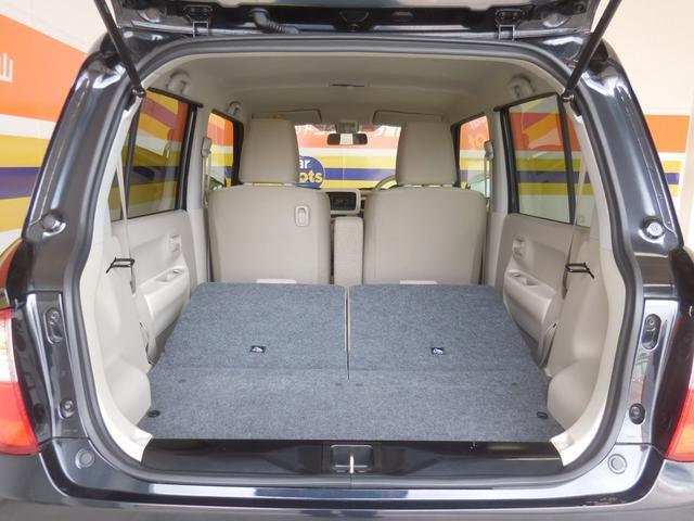 シートを倒せば かなりの大容量スペースが確保できます!
