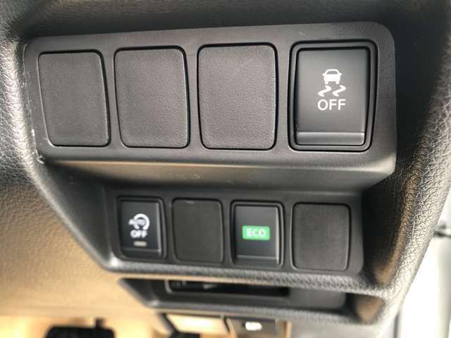 横滑り防止装置、アイドリングストップ、エコモードの操作スイッチ☆
