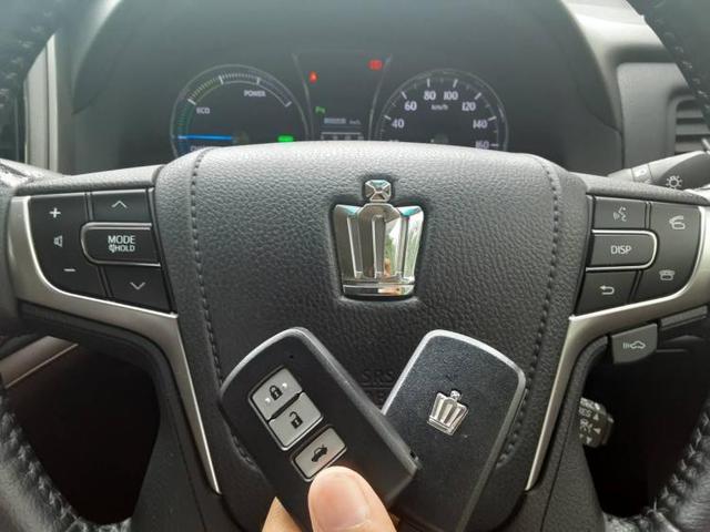 ロイヤルサルーン AWヘッドランプHIDアイドリングストップパワーウインドウキーレスオートエアコンシートヒーター前席パワーシートフロント両席パワステ1オーナー取扱説明書・保証書 EBD付ABS(17枚目)