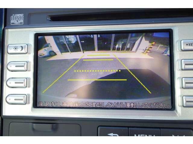 バックカメラも装着されております。後方確認もバッチリです。