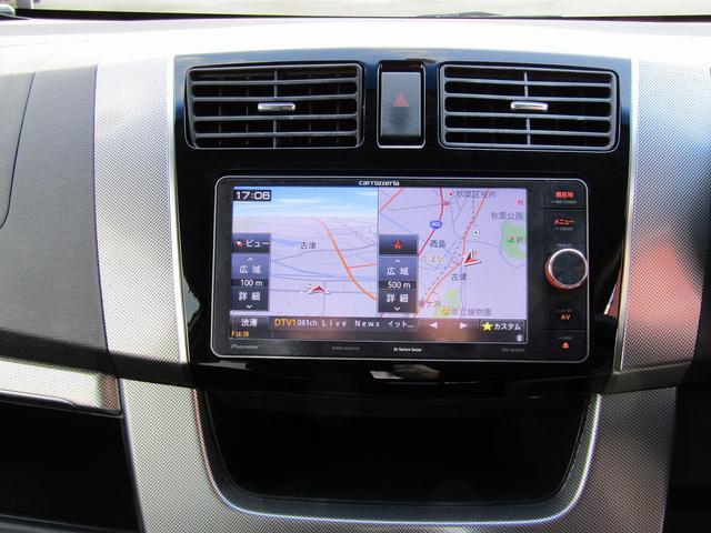カスタムR 4WD 社外ナビ フルセグTV HIDヘッドライト 純正14インチアルミホイール アイドリングストップ プッシュスタート スマートキー(3枚目)