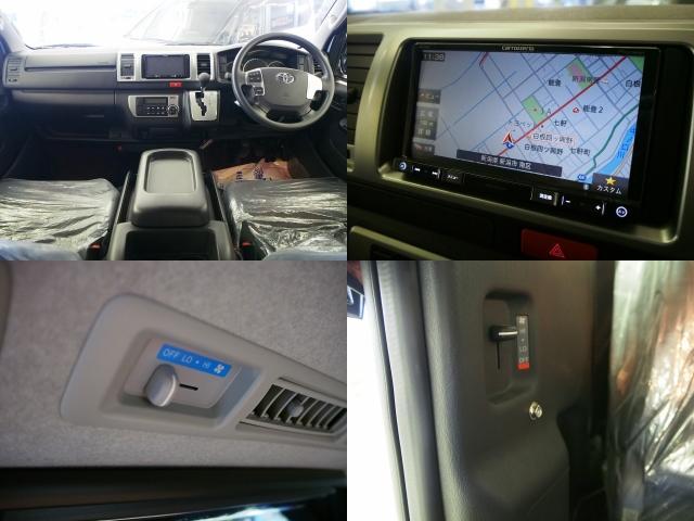 トヨタ ハイエースバン バンコン FOCS エスパシオ+UP FFヒーター SDナビ