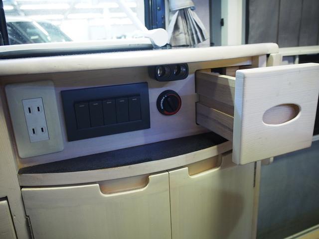 AZ-MAX K-ai 対面タイプ スズキ純正SDナビ Bモニター 地デジ ETC シガーソケット シンク  シングルサブバッテリー 走行充電 べバスト製FFヒーター Rランチョショック 電圧計(13枚目)
