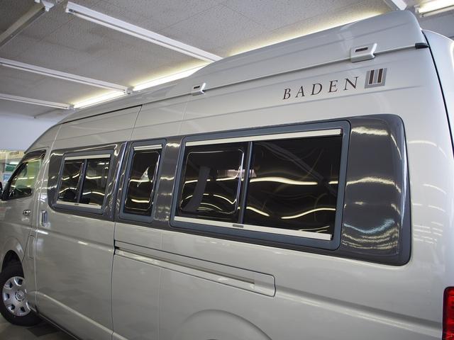 トイファクトリー バーデングランデ 4WD シャワーフォーセット付きシンク 給排水ポリタンク各13L ツインサブバッテリー 外部充電 エアロソーラー FFヒーター 冷蔵庫 1500Wインバーター(30枚目)