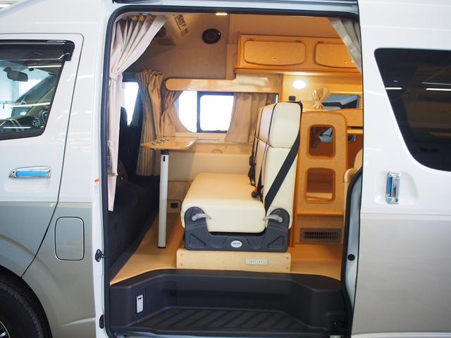 FOCS Di 4WD FFヒーター 寒冷地仕様 ソーラーパネル インバーター ツインサブ シンク 冷蔵庫 電子レンジ FFヒーター マックスファン レザーシート加工 フリップダウンモニター(37枚目)