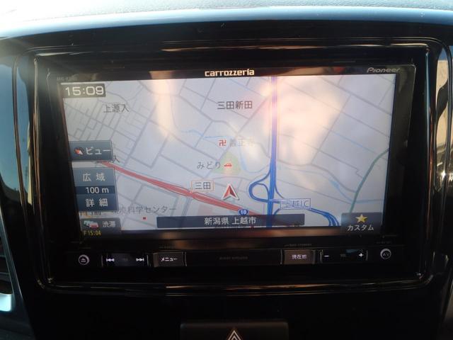 TS 4WDターボメモリーナビ両側パワスラアイドリングストップスマートキープッシュスタートシートヒーターオートライトキセノン本革巻ステア純正フルエアロ純正15AW(14枚目)