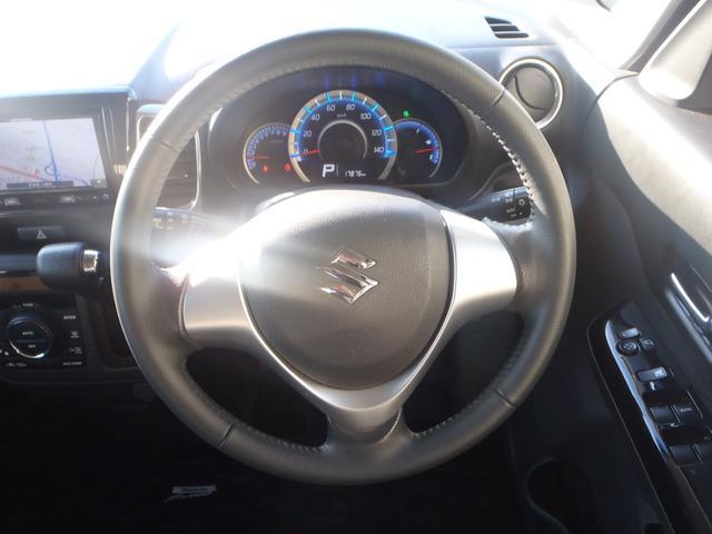 TS 4WDターボメモリーナビ両側パワスラアイドリングストップスマートキープッシュスタートシートヒーターオートライトキセノン本革巻ステア純正フルエアロ純正15AW(24枚目)