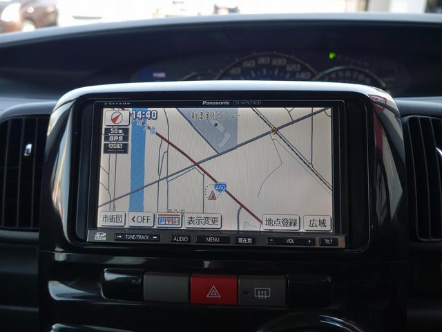 カスタムX 社外メモリナビ/フルセグTV ETC スマートキー 左側パワースライドドア 純正アルミホイール HIDヘッドライト アイドリングストップ ABS Wエアバッグ(2枚目)