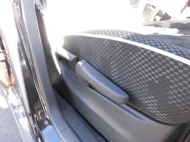 シートリフター。シートの高さを調節できます。ジャストなスタイルが決まります。
