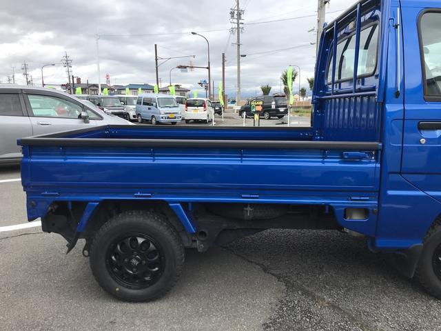 スバル サンバートラック WR ブルーリミテッド 4WD 5MT 新AW マットタイヤ