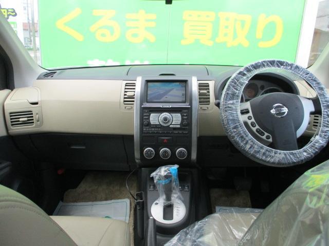 日産 エクストレイル アクシス 4WD 純正ナビ ETC ワンオーナー Bカメラ