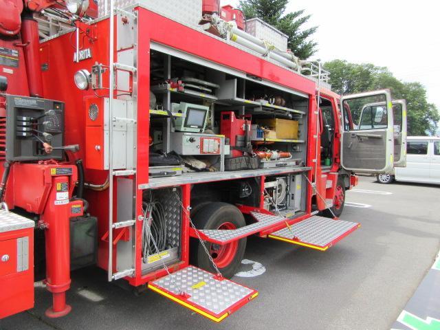 日野 レンジャー 消防車 救急 救助 特救 クレーン 投光器 道具積 ウインチ