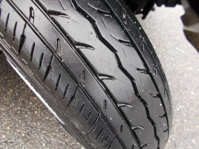 タイヤの残りは5分山程度です。別途料金となりますが新品タイヤもお求めやすい価格でご用意できますのでご相談ください!