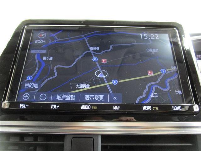 トヨタ純正TCナビゲーション付き♪フルセグTV・CD・AM・FMが視聴可能☆使い勝手も良く、操作も簡単です!お気に入りの選曲で、通勤・ドライブを快適にどうぞ♪