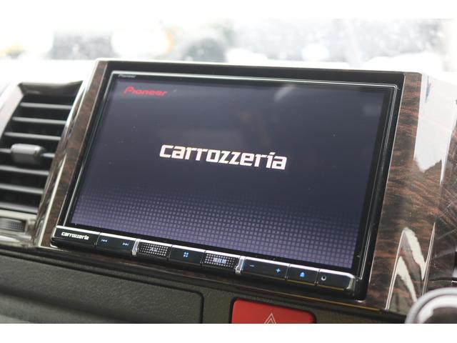 スーパーGL ダークプライムII ロングボディ オリジナル床張り ベットKIT カロッツェリア製8インチSDナビTV ETC 寒冷地仕様(18枚目)