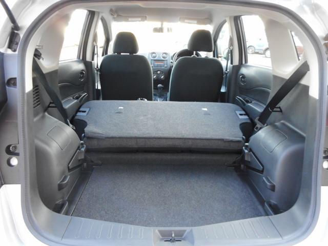 写真のように後部座席を倒せば、普段なかなか載せることのないような大きい荷物もしっかり積むことができそうですね。